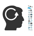Refresh Head Memory Icon With Copter Tools Bonus vector image vector image