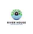river house logo design inspiration vector image