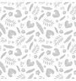 silver grey tropical summer hawaiian vector image