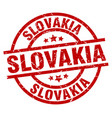 slovakia red round grunge stamp vector image vector image