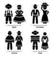 south america - brazil colombia bolivia chile man vector image