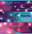 space travel banners template with shuttle vector image