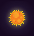 sun icon in cartoon design vector image