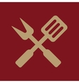 The bbq icon Barbecue and kitchen cook symbol vector image vector image
