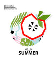 trendy tropic and apple background vector image vector image