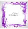 Violet abstract background with triangles vector image vector image