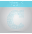 Vitamin C info-text background vector image