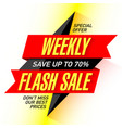 weekly flash sale banner design template vector image vector image