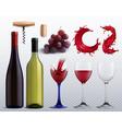 wine transparent set vector image