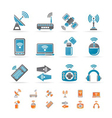 Wireless and communication technology icons vector image