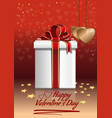 box with a gift for valentines day vector image