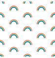 seamless pattern with rainbows on white vector image
