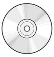 CD or DVD disc vector image
