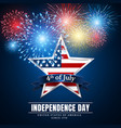 4 th july usa star independence day fireworks vector image vector image