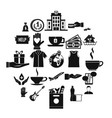 alms-deed icons set simple style vector image vector image