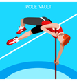 Athletics Pole Vault 2016 Summer Games 3D vector image vector image