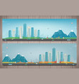 autumn city landscape and suburban landscape vector image vector image