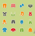 baby clothes icon set vector image vector image