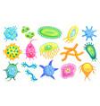 bacteria micro creatures set vector image vector image