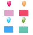 balloon with blank card set vector image