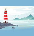 blue sea background with vector image