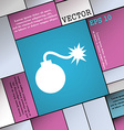 bomb icon sign Modern flat style for your design vector image