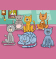 cats group in house cartoon vector image vector image