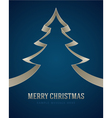 Christmas white tree from ribbon background vector image vector image