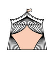 circus striped tent vector image