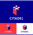 citadel logo insurance agency walls vector image