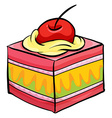Colourful piece of cake vector image