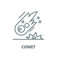 comet line icon comet outline sign vector image