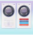 concept security application ui design account vector image vector image