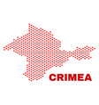 crimea map - mosaic of lovely hearts vector image vector image