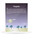 Design template banner nature and forest vector image vector image