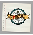 Doodles I Love Bicycle Sign vector image