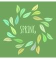 Elegant green floral frame vector image