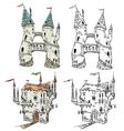 Fantasy castles vector image