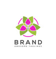 flower colorful icon logo sign vector image vector image