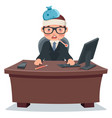 flu sick ill businessman character work office vector image