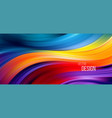 full color flow wave trendy background background vector image