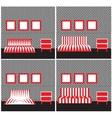 Geometric furniture vector image
