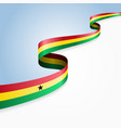 ghanayan flag wavy abstract background vector image