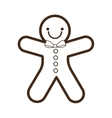 ginger cookie christmas character isolated icon vector image