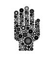 Hand a gear wheel vector image vector image