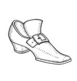 hand drawn boot vector image vector image