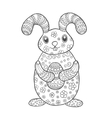 Hand drawn cute easter bunny vector image vector image