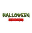 happy halloween party comic text font pop art vector image vector image