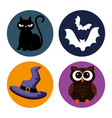 happy halloween set icons vector image vector image
