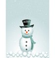 Happy holidays snow man background vector image vector image
